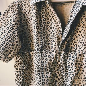 Vintage 80's Leopard Button Up